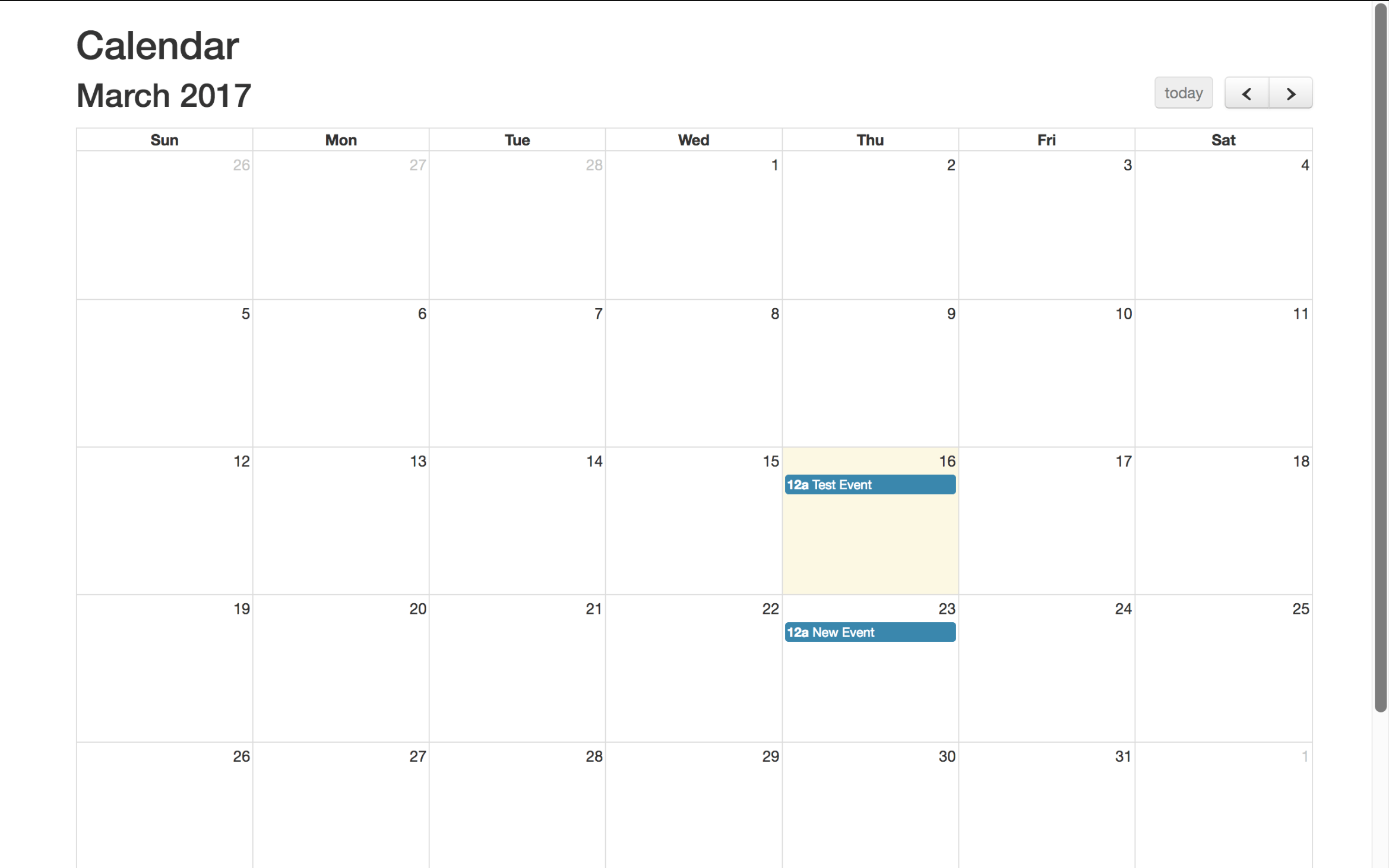 Fullcalendar with PHP and CodeIgniter - Database Events