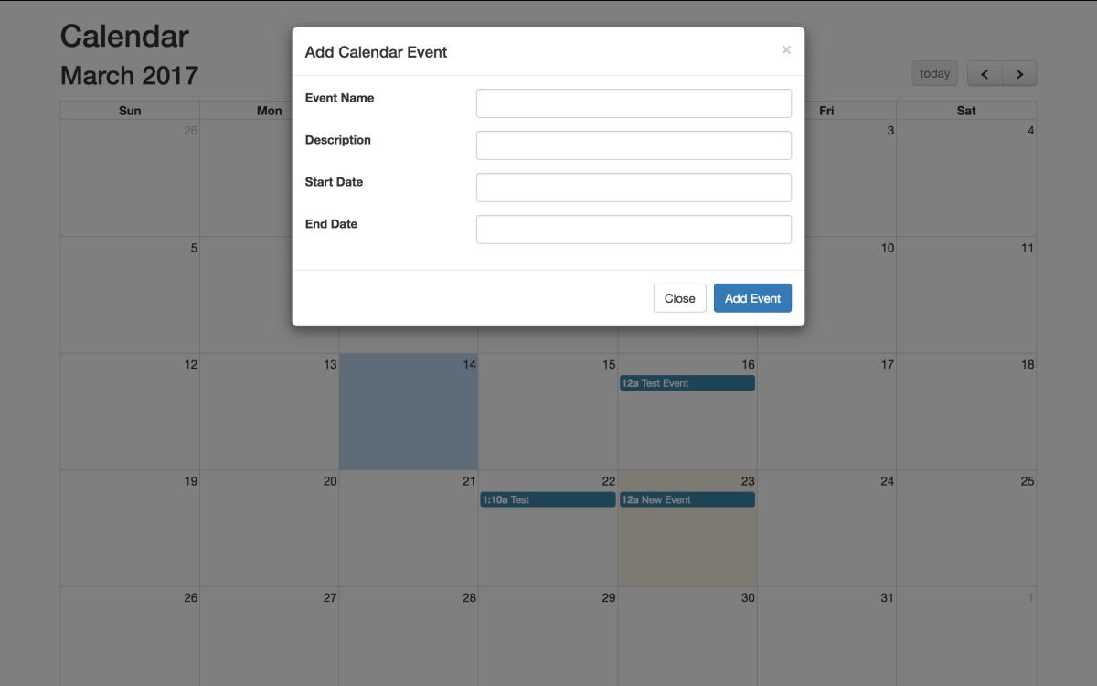 Fullcalendar with PHP and CodeIgniter - Adding Events - Part 3