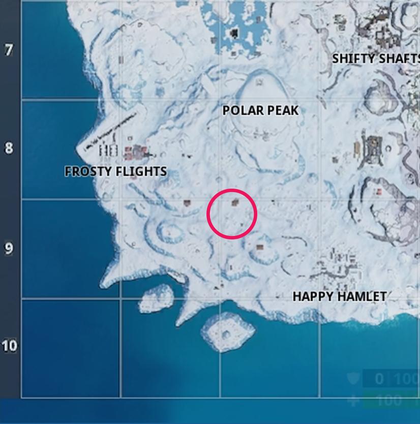fortnite season 7 week 3 battle star location search between three ski lodges - where are the ski lodges in fortnite season seven