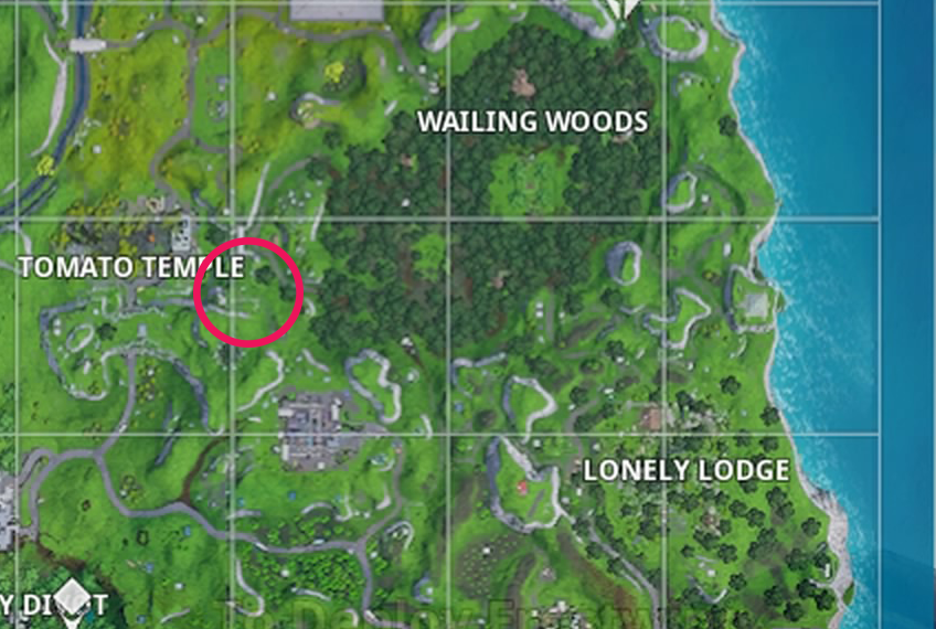 Fortnite Season 7 Week 5 Search between a giant rock man