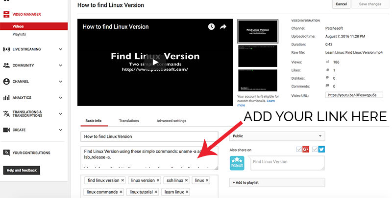 How to Add YouTube Affiliate Link