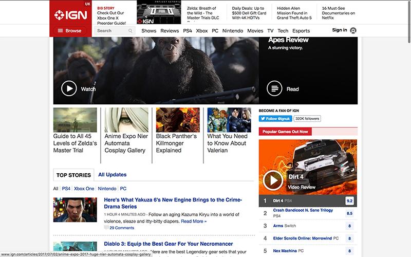 IGN Affiliate Site
