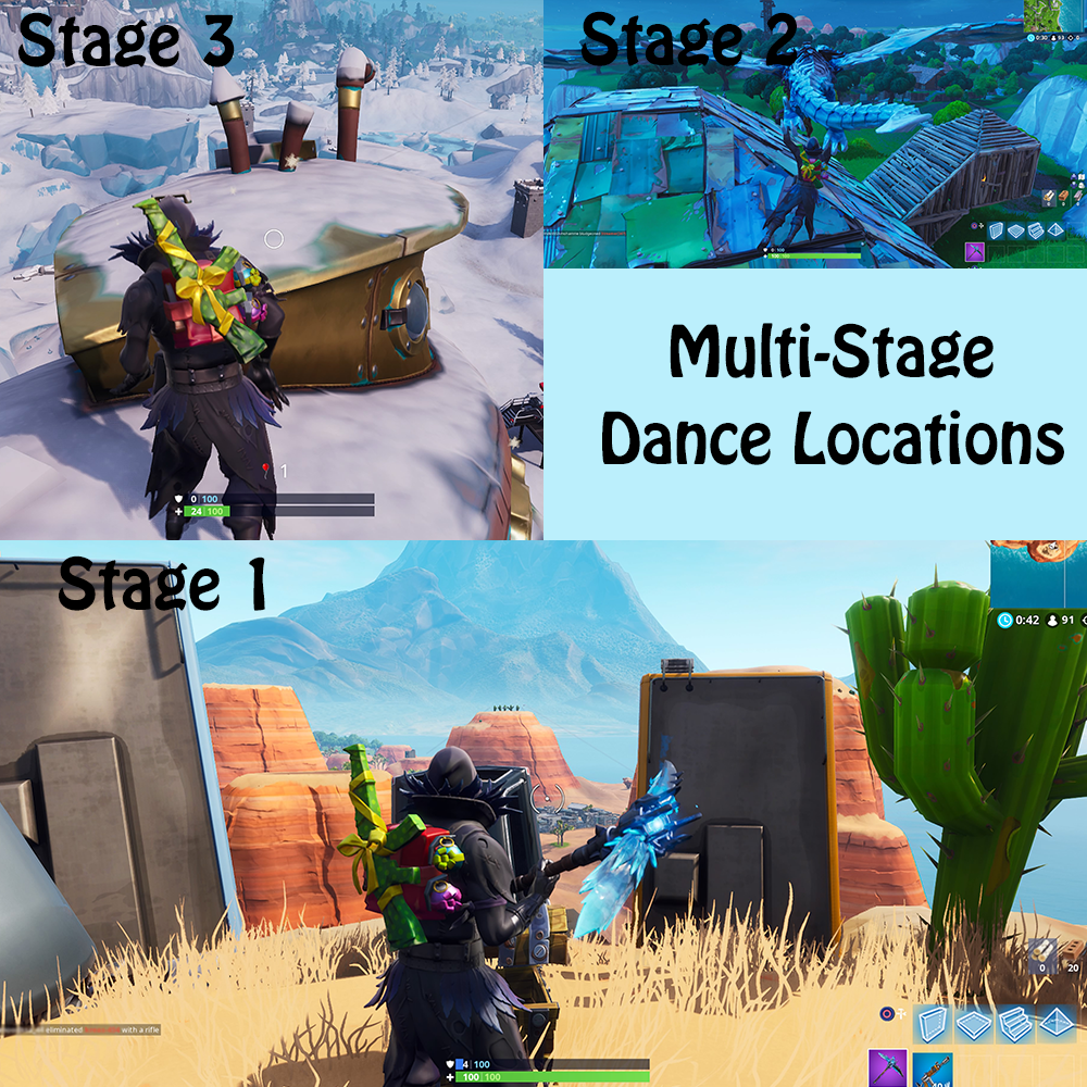 Fortnite Multi-Stage locations Season 7 Week 1
