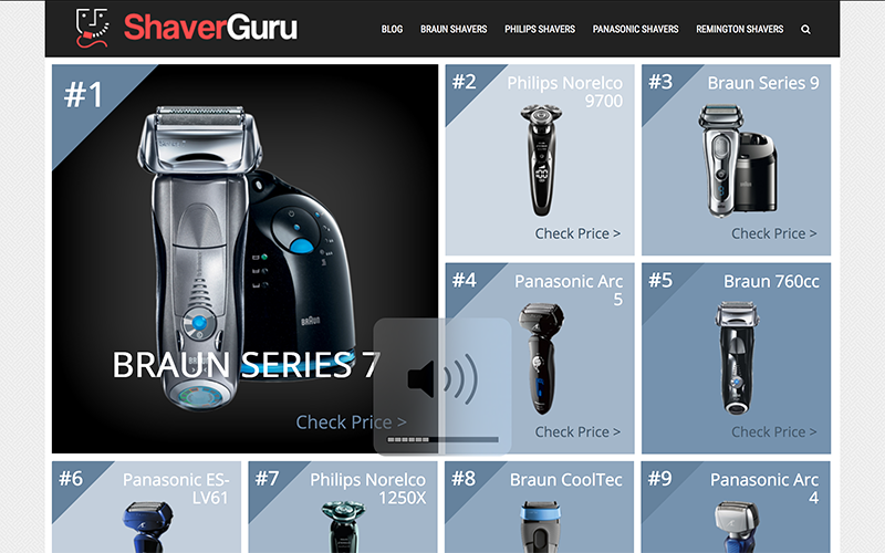 ShaverGuru Amazon Affiliate Site