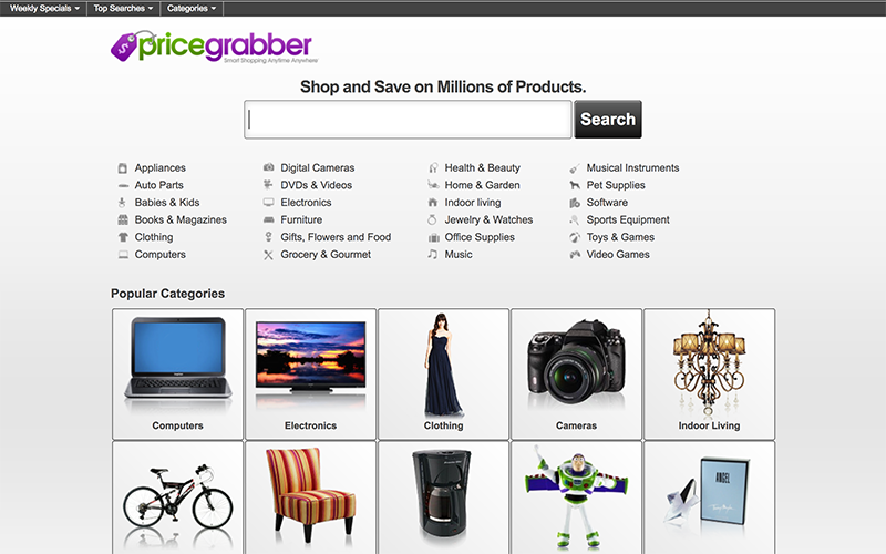 PriceGrabber Amazon Affiliate Site