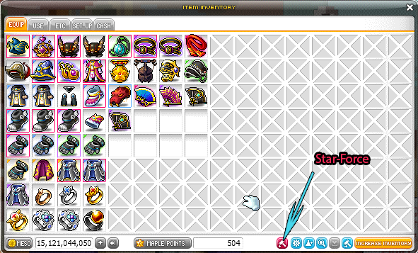 Starforce Inventory Maplestory