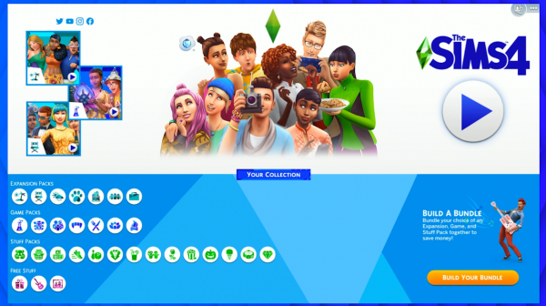 The Sims 4 New Screen
